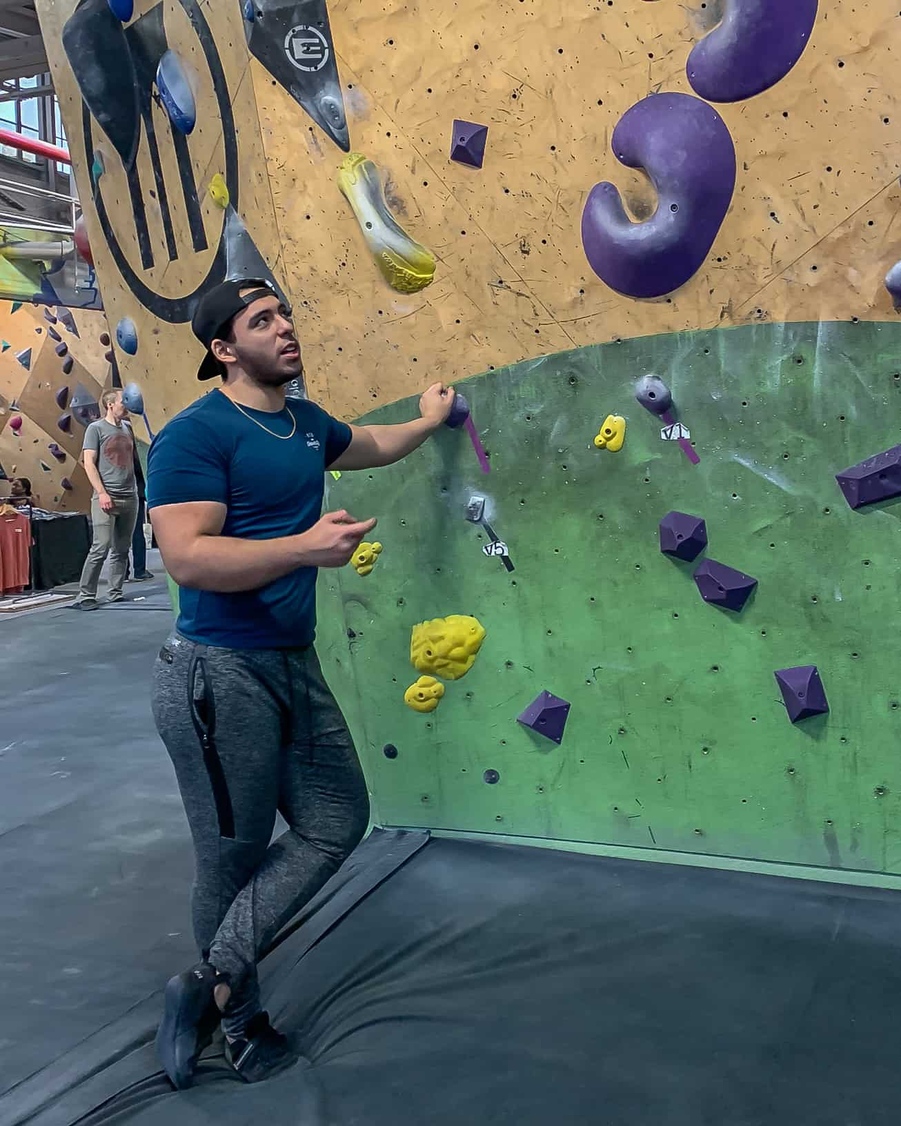 Planning My V1 Route at Brooklyn Boulders